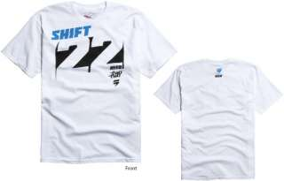 Shift Racing Chad Reed Knockout Tee White Adult XL Team Two Two