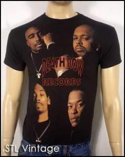 DEATH ROW RECORDS T SHIRT rap hip hop TUPAC SNOOP DOGG sz XS