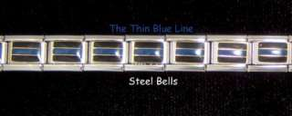New Rare Thin Blue Line 20 Link Bracelet for Our Friends in Blue