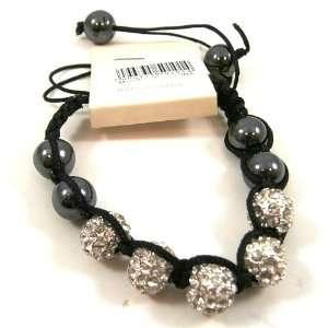 Silver Shambala Crystal Rhinestone Pave Disco 11 Bead