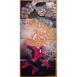 Marvel Comics Spider Man Hulk Promotional Poster Signed