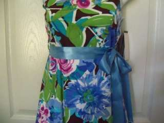 NWT MY MICHELLE MULTI COLOR FLOWER PRINT DRESS SZ 14$44