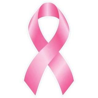 Breast Cancer Ribbon Car Decal / Sticker: Musical