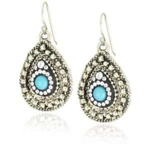 Orit Schatzman Sterling Silver Oxidized Flower Earrings Jewelry