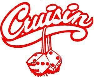 CRUISIN LOWRIDER STICKER/DECAL CHOOSE SIZE/COLOR