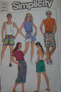 MISSES COMBINATION PANTS SHORTS SKIRTS CULOTTES PATTERN VARIETY SIZE