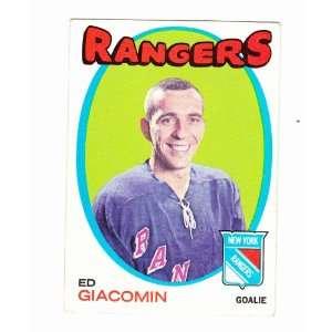 1972 Ed Giacomon New York Rangers Trading Card Hockey