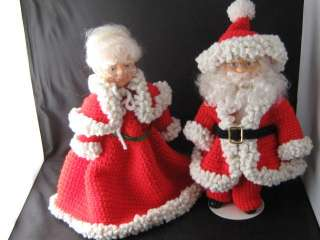 Handcrafted Christmas Mr Santa Claus Mrs Claus Dolls