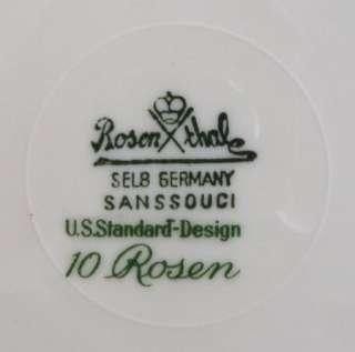 PLATE ROSENTHAL Selb GERMANY 10 ROSEN roses scrollwork