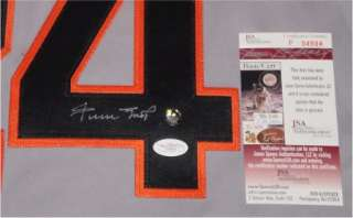 WILLIE MAYS AUTOGRAPHED SIGNED SAN FRANCISCO GIANTS #24 JERSEY SAY HEY