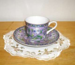 TAKAHASHI SAN FRANCISCO HAND DECORATED LILY DEMITASSE CUP AND SAUCER