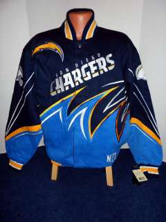 San Diego Chargers NFL Twill Slash Jacket   4X