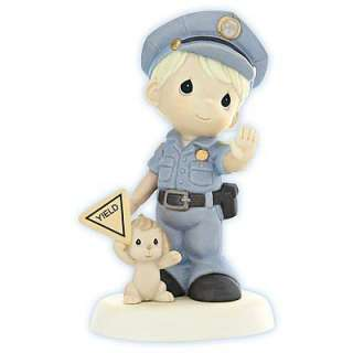 Precious Moments   Police Officer with Dog Figurine