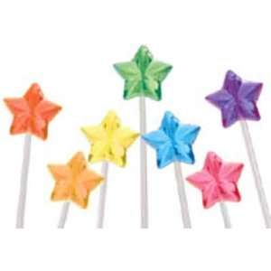 STAR SOLID ASSORTED COLOR LOLLIPOPS Grocery & Gourmet Food