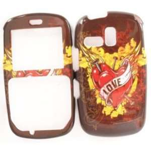 Samsung R355c Brown Love Design Hard Case Cover Skin Protector NET 10
