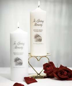 Personalized Wedding Memorial Candle In Loving Memory