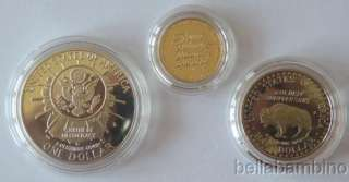 1991 MOUNT RUSHMORE GOLD SILVER PROOF COIN SET