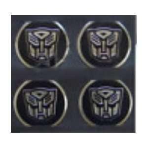 Transformer Autobot Camaro Chrome/Black Wheel Decal Emblems