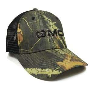 GMC 3D Logo Camo Mesh Back Baseball Cap: Automotive