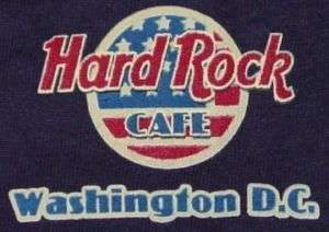 Hard Rock WASHINGTON DC USA Flag Guitar Blue T SHIRT MD