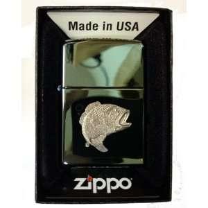 Zippo Custom Lighter   BIG Mouth Bass Fish Fishing Emblem Logo Symbols