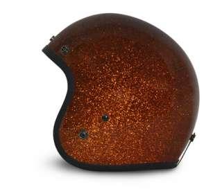 Daytona 3/4 Shell Root Beer Brown Metal Flakes Helmet
