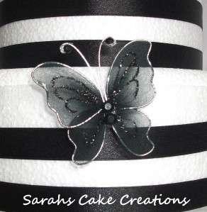 Stunning Butterfly Wedding Cake Side Topper