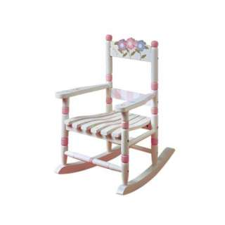 New Childrens Girls Wooden Rocking Chair   Bouquet