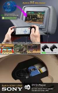 Pair 7 LCD Car Headrest DVD Player w/ BLACK Cover Eonon L0203