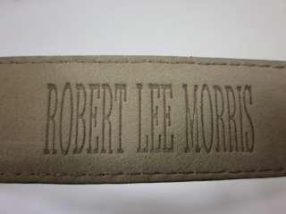 ROBERT LEE MORRIS Brown Lizard Skin Belt Sz S