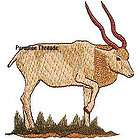 Turkmen Markhor Goat Buck Iron On Patch Embroidered items in