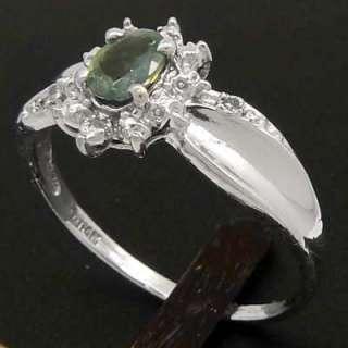 NATURAL 0.66 carats ALEXANDRITE & DIAMOND RING 14k GOLD