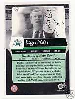 DIGGER PHELPS SIGNED NOTRE DAME 2007 PRESS PASS #67