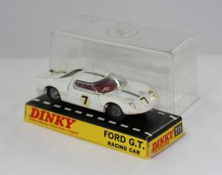 DINKY TOYS 215 FORD GT40 SPORTS RACING CAR WHITE MIB