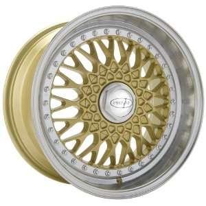 16x7 Privat Remember (Gold w/ Machined Lip) Wheels/Rims