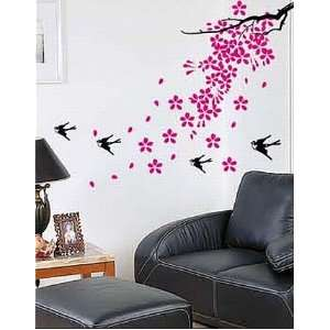Falling with Birds Sticker Decal for Baby Nursery Kids Room Baby