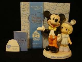 ex Precious Moments Disney Where Dreams Come True Mickey Mouse LE