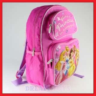 Disney Princesses 14 Backpack Bag School Girls Tangled