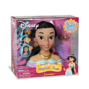 Disney Princess Stylin Fun Head   Crazy Curls Jasmine: Toys & Games