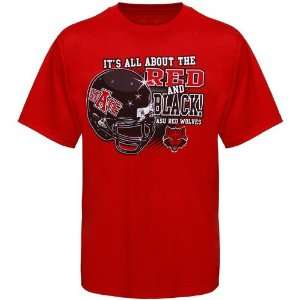 Arkansas State Red Wolves Red All About Red & Black T