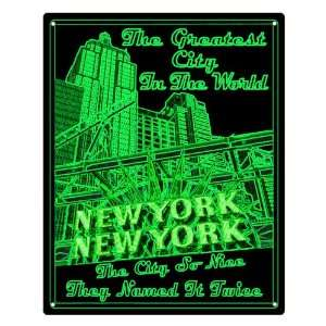 neon style gift New York City sign wall decor Everything