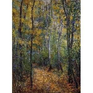 Claude Monet Wood Lane  Art Reproduction Oil Painting