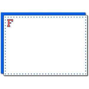 Tree Paperie Florida Gators F Polka Dot Correspondence Cards, 10 Count