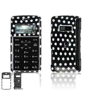LG EnV2 VX9100 Cell Phone Black/White Polka Dot Design Protective Case