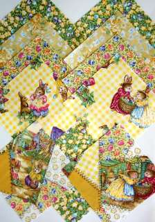 30~ 4.5 HOLLY POND Quilt Squares Peter Rabbit CHARMS