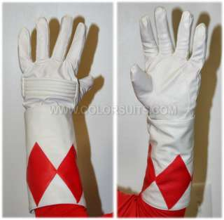 Mighty Morphin Power Rangers Red Ranger Gloves Cuffs   SHIPS FROM USA