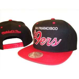 Black & Red San Francisco 49ers Adjustable Snap Back Baseball Cap Hat