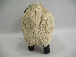 vtg Signed Scotland Spaghetti Sheep Ram Art Sculpture