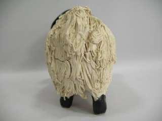 vtg Signed Scotland Spaghetti Sheep Ram Art Sculpture
