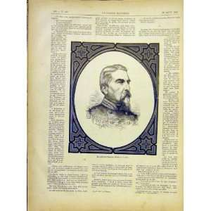 Portrait General Ducrot French Print 1882